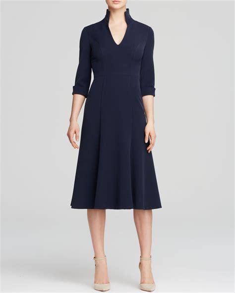 Wst 12011 V Neck Dress Blue black halo dress kensington three quarter sleeve v neck
