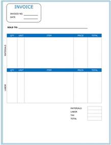 Contract Invoice Template Contractor Invoice Template 6 Printable Contractor Invoices