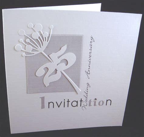invitation cards for wedding anniversary anniversary invitations 25th silver wedding anniversary