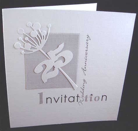 silver wedding anniversary printable cards anniversary invitations 25th silver wedding anniversary