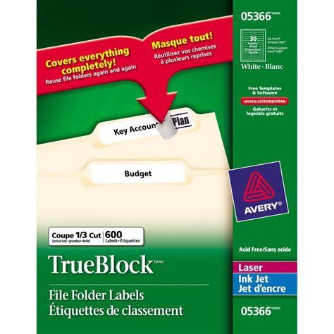 Avery Folder Labels Template