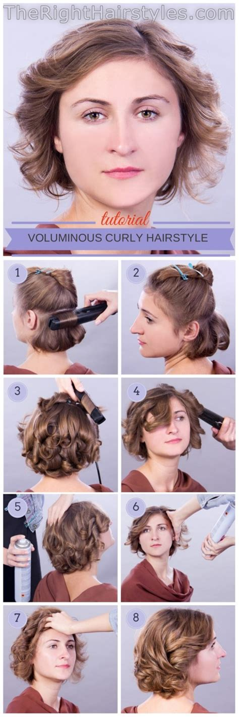 edgy hairstyles step by step how to voluminous curly hairstyle for short fine hair