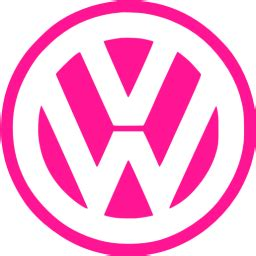 deep pink volkswagen icon  deep pink car logo icons