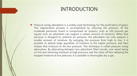 pressure swing pressure swing adsorption