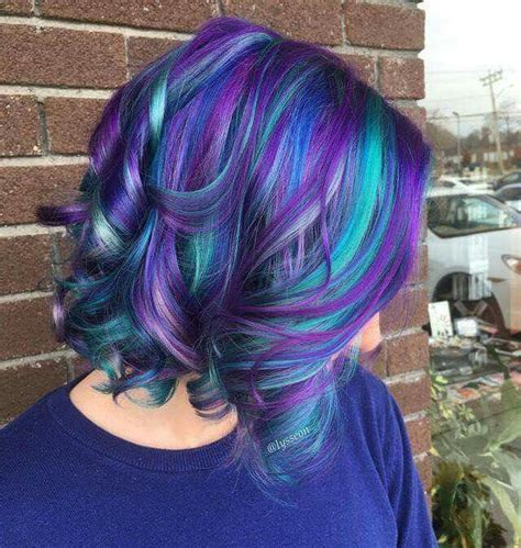 hairstyles with teal highlights 629 best beauty hair images on pinterest coloured hair