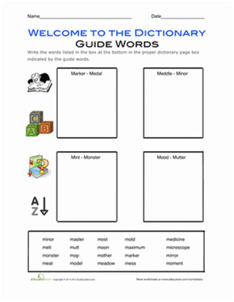Dictionary Skills Worksheets 4th Grade by Dictionary Skills Alphabetizing Worksheet Education