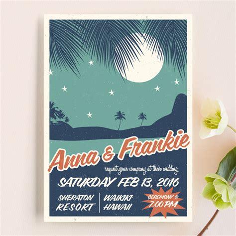 Retro Wedding Invitations by Retro Hawaii Wedding Invitations By Coco And Ellie Design