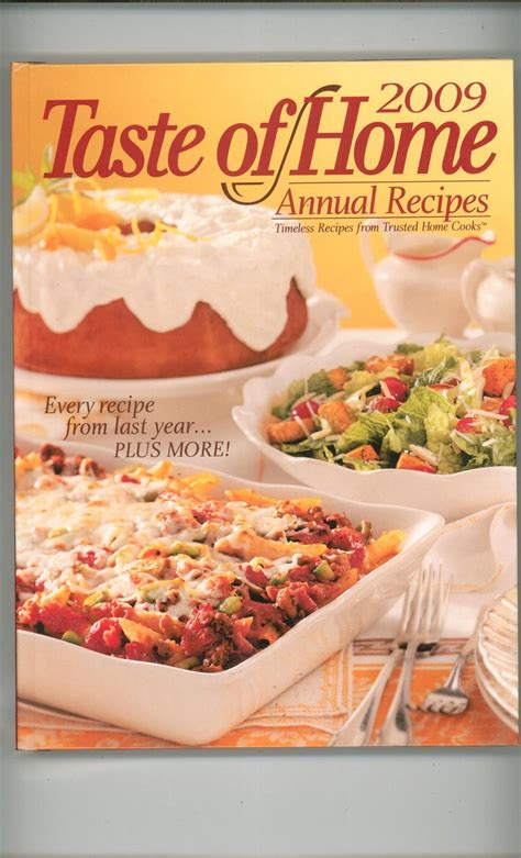 taste of home annual recipes 2009 cookbook 0898216196 320