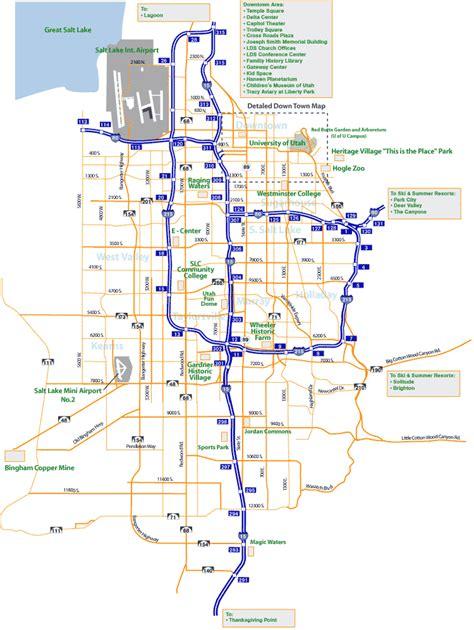 map of salt lake city streets salt lake city map of utah