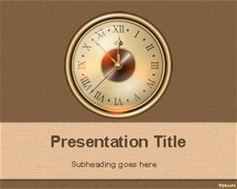 Free Old Clock Powerpoint Template Microsoft Powerpoint Templates Time