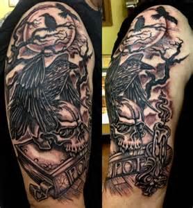 edgar allen poe tattoo