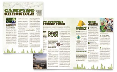 nature templates for word nature cing hiking newsletter template word publisher