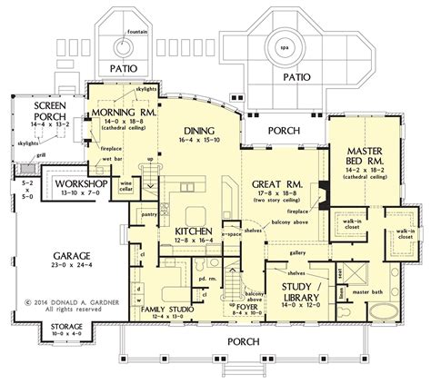 open floor plan farmhouse 30081rt 2nd floor master house plan on the drawing board 1407 brick and stone