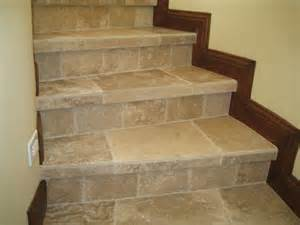 Tile Stairs Ideas by Wood Tile Stairs Wb Designs