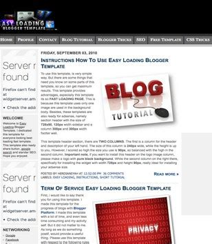 easy loading blogger template 2014 free download