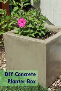 Diy Cement Planter Box diy modern minimal concrete planter boxes
