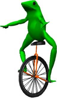 Wall Sticker Canada quot dat boi meme unicycle frog quot stickers by joedaeskimo