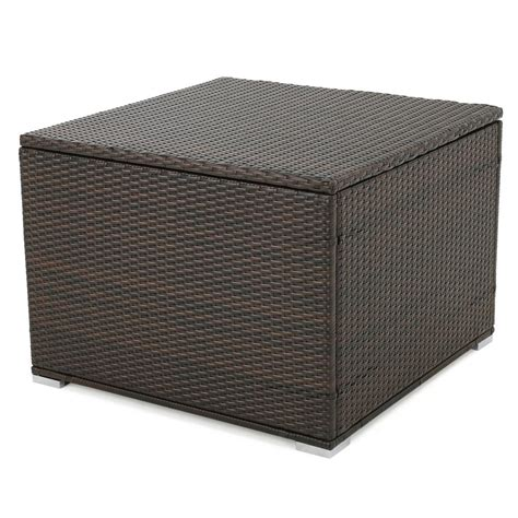 noble house iliana multibrown wicker outdoor ottoman with