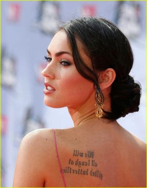 megan fox s tattoos image collection megan fox s of the quote
