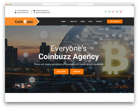 Coinbuzz Free Html Cryptocurrency Website Template Colorlib Cryptocurrency Html Template Free