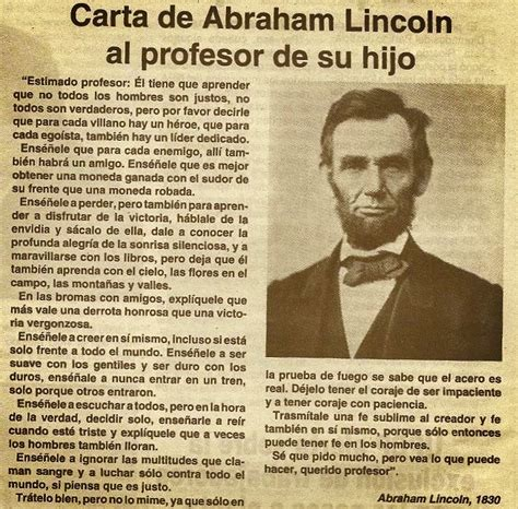 biography of abraham lincoln in spanish 27 best cartas images on pinterest spanish quotes quote