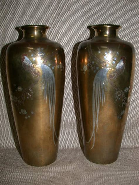 Japanese Bronze Vases by Emwa Au Porcelain Bronze Antiques