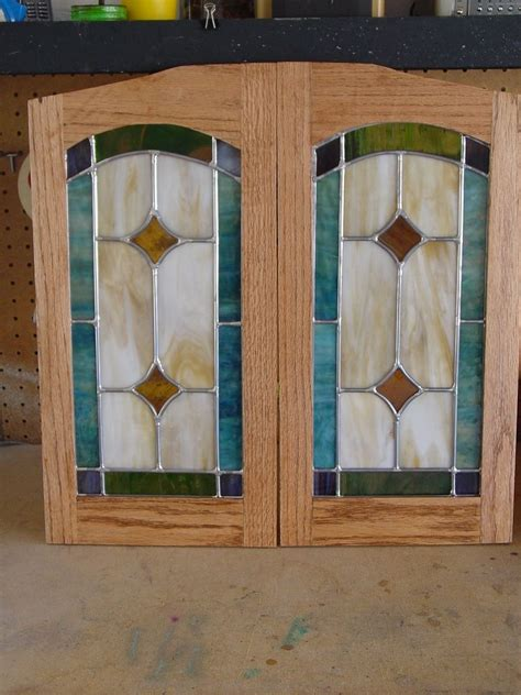 Hand Made Cabinet Door Stained Glass Panels By Chapman Cabinet Door Glass Panels