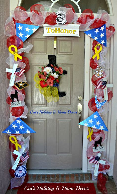 welcome home interiors christmas door decorating ideas 18