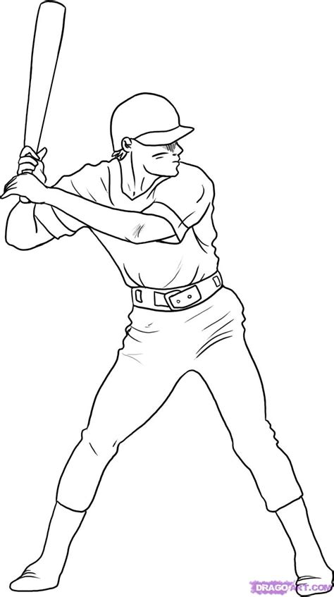 baseball girl coloring page how to draw a baseball player step by step sports pop