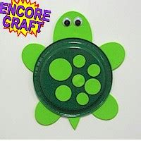 Paper Plate Turtle Craft Template - paper plate turtle
