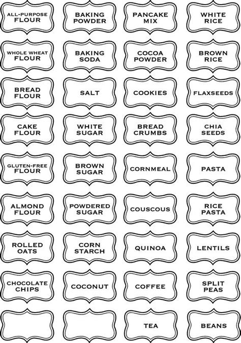 30 best spice jar labels and templates images on