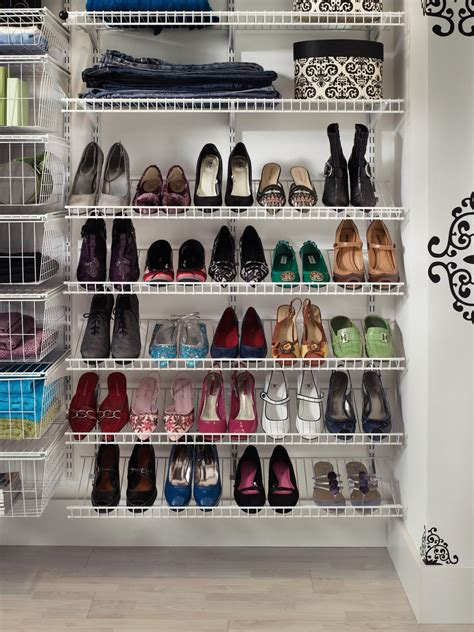 shelves for shoes shoe shelves for closets hgtv
