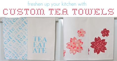Handmade Towels - tutorial freshen up your kitchen with custom tea towels