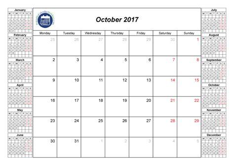 printable monthly calendar oct 2017 october 2017 printable calendar printable 2017 calendar