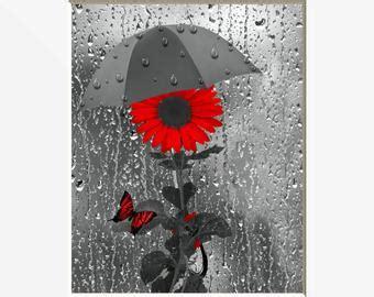 red grey wall art etsy