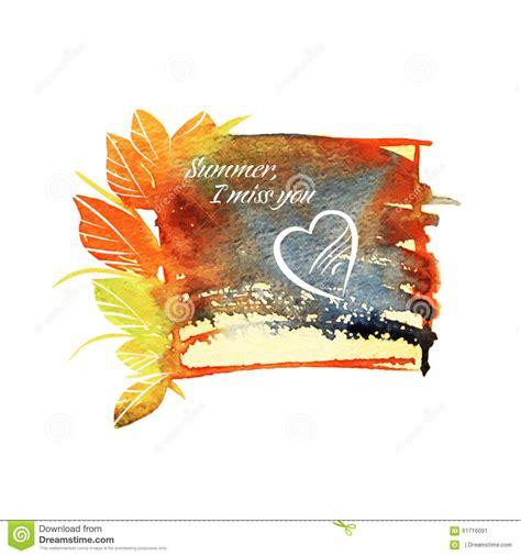 testo acquerello bello acquerello struttura di estate con testo e cuore