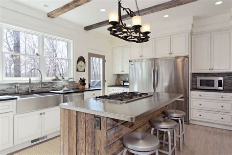 transitional kitchen with gray cabinets and farmhouse sink kitchen charming kitchen island ideas transitional u