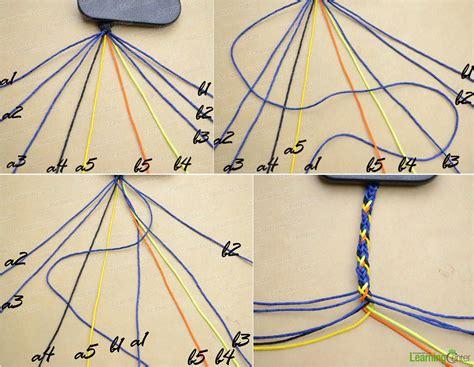 Braiding String Designs - do 10 strand braid bileklik friendship