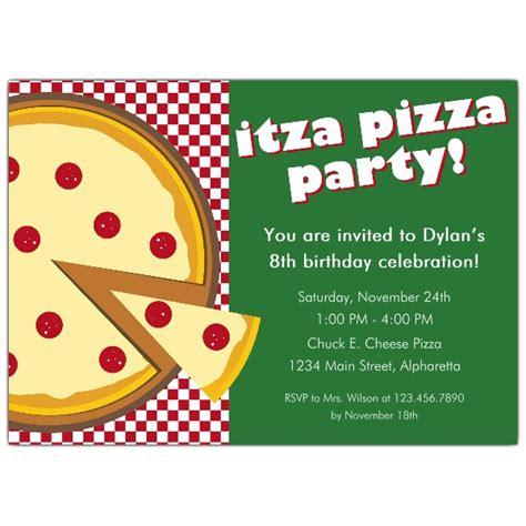 Itza Pizza Party Invitations Paperstyle Pizza Invitation Template