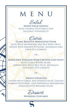 menu design lighthouse nautical wedding on pinterest nautical wedding
