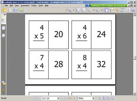Math Flash Card Template Free by Math Flash Cards Free Printable 24 7