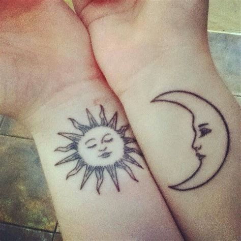 sun and moon best friend tattoos pin by mariana sandoval on diy things i like