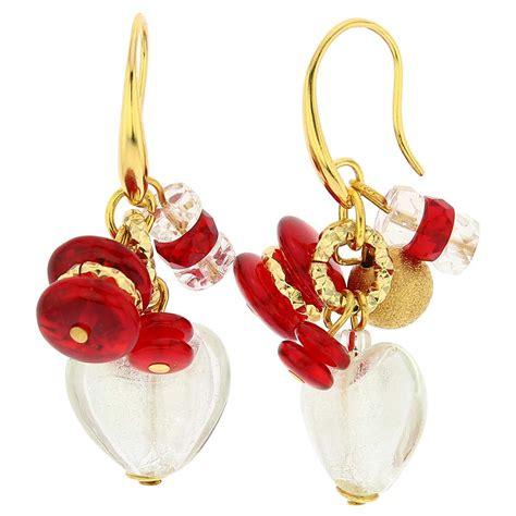 Donatellas Heartbreak by Murano Earrings Le Murano Glass Earrings