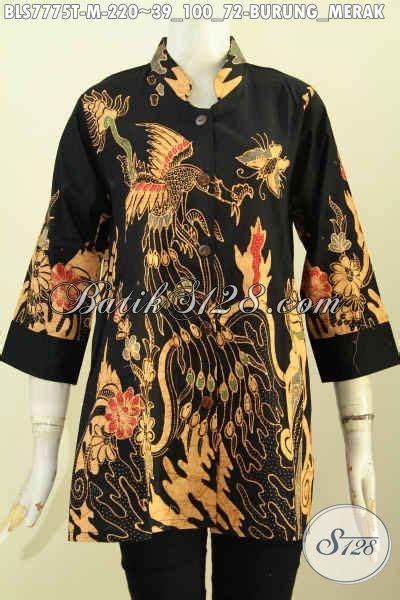 Blus Batik Merak batik blus elegan motif burung merak baju batik tulis