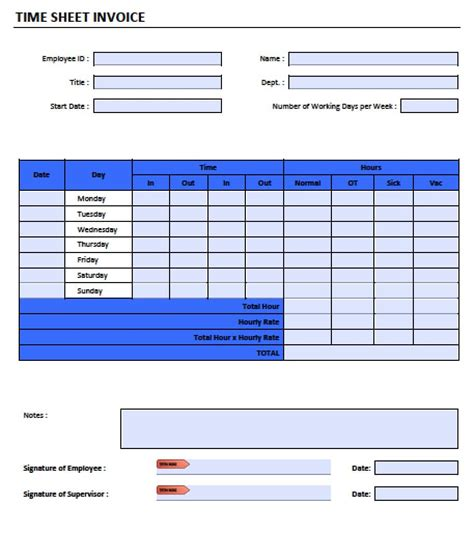 timesheet invoice template free and 92 daily work tracker template