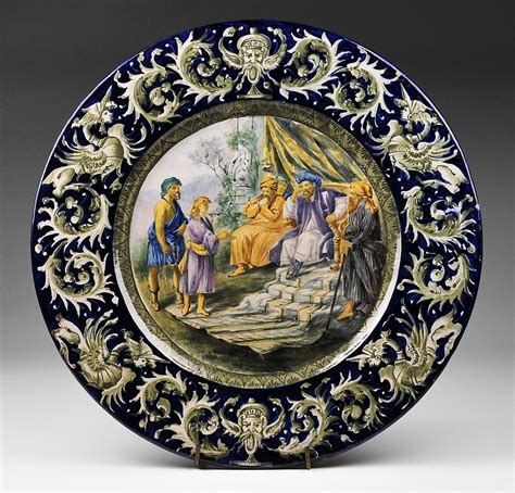 italian ceramic the maiolica pavement tiles of the fifteenth century with illustrations classic reprint books italian urbino style tin glazed majolica istoriato plate