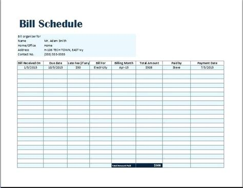 payment list template printable bill pay checklist bill pay bill pay tracker