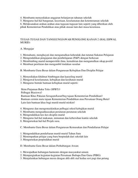 senarai tugas gb