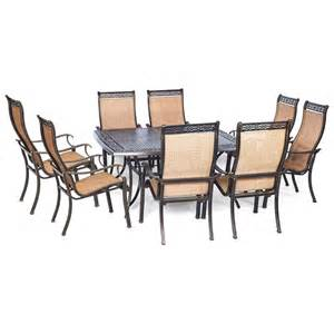 manor 9 sling dining set 60 inch square table
