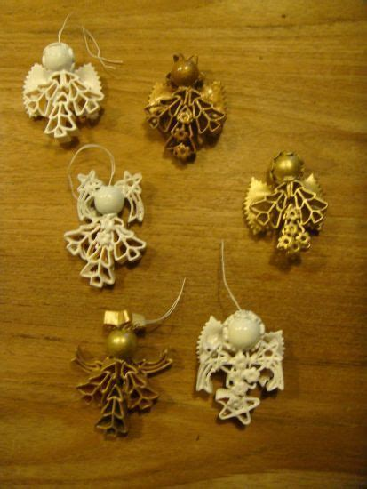 maccaroni christmas decorations macaroni engelen knutselen macaroni and ornament